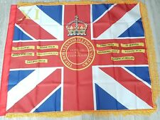 Royal inniskilling fusiliers 11th Donegal Fermanagh Kings colour ceremonial flag