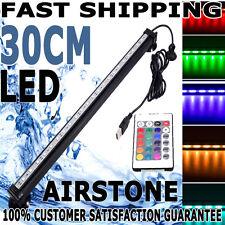 Fish Prince Aqua Aquarium LED Air Stone Aquarium Tank RGB Light 30cm Airstone