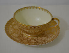 BROWN WESTHEAD MOORE CAULDON WARE CUP WITH SAUCER