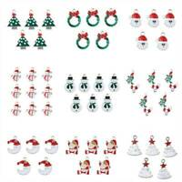 10x Xmas Enamel Alloy Charms Pendants For DIY Necklace Jewelry Making Findings