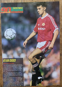 Signed Rookie Ryan Giggs Manchester United Magazine Poster 1991 Autograph