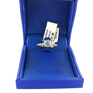 TACORI 18k Rose Gold .15ctw Semi Mount Engagement Ring Setting Size 6.5 NEW