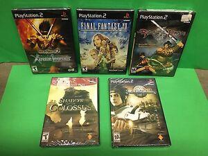 PS2 Games Lot 5 NEW SEALED: Final Fantasy XII  Colossus   Kasai   Xtreme   Genji