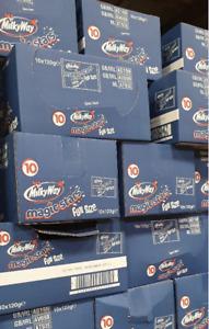 100 Milky Way Magic Stars Chocolate, Fun Size Bags , 10 Bags of 10 120g