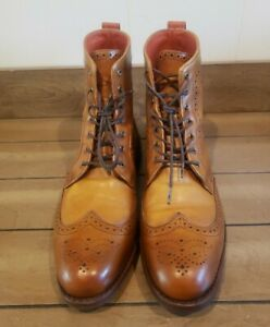 """Allen Edmonds """"DALTON"""" Wingtip Dress Boots Sz 10 D Walnut"""