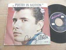 "DISQUE 45T DE JOHNNY TILLOTSON  "" POETRY IN MOTION """