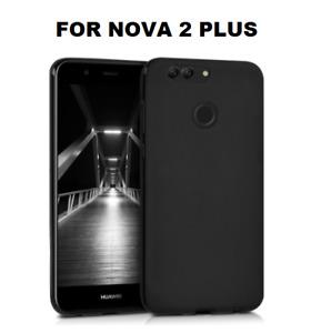 Cover case custodia HUAWEI NOVA 2 PLUS TPU ultra slim silicone nera 0,3mm