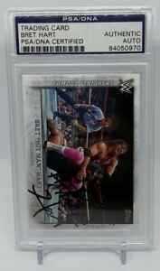 Bret Hart Autographed 2015 Topps WWE WWF Wrestling Card PSA DNA Auto Signed