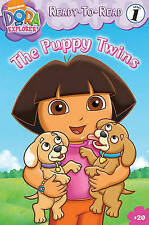 The Puppy Twins (Ready-To-Read Dora the Explorer - Level 1)-ExLibrary