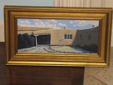 PHIL EPP Original Oil Board Painting Framed New Mexico Blumenschein House Taos