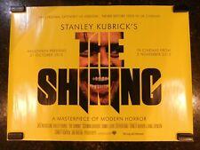 "The Shining Original Re-release (R-2012) British Quad, 30"" x 40"", C8 Very Fine"
