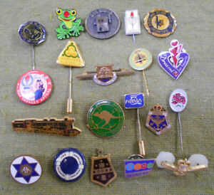 #D500.   #1.  LOT OF TWENTY (20)  BADGES & PINS