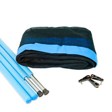 13ft Trampoline Net and (8) Pole Package - Blue - Free Delivery