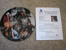 GUNS N ROSES AXL ROSE SLASH DUFF McKAGAN MATT+1 SIGNED PICTURE DISC bas letter