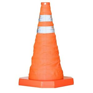 """18"""" High Visibility Pop Up Traffic Cones Safety Emergency Cone Football Portable"""