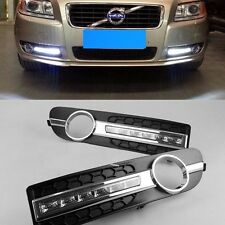 For Volvo S80 S80L 06-2013 2 White LED Daytime Day Fog Light DRL Signal Run lamp