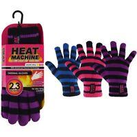 Ladies Mens Winter Heat Machine Gloves Womens Thermal Warm Heat 2.3 Tog Genuine