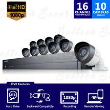 (Refurbished) SDH-C75100 - Samsung 16CH Security System w/ 10 1080p HD Cameras