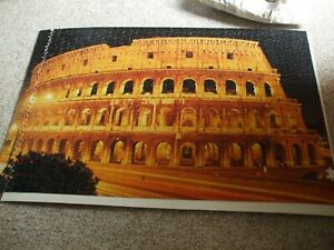 999 piece Jigsaw of The Colassum in Rome At night no box or picture