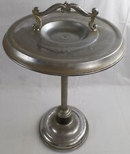 Silver Plated Cigar/Cigarette Ashtray Metal Smoking Stand, 26""