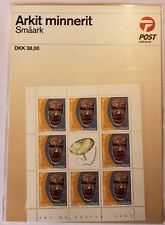 Greenland Miniature Sheet 2002 Culture & Heritage 4.75 kr - Mask - MNH Packaged