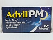 Advil PM Ibuprofen 200mg, 200 Coated Caplets *Pain Reliever, Nighttime Sleep Aid