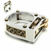 Lighter Silver Ring Punk Sz6-10 Party Women Fashion Gothic Wedding Jewelry