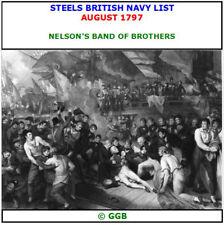 STEELS BRITISH NAVY LIST AUGUST 1797 CD ROM
