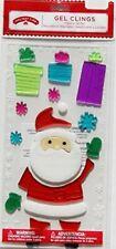 NEW Christmas Winter Santa Gifts Snowflakes window Gel Clings 22 pcs Decorations