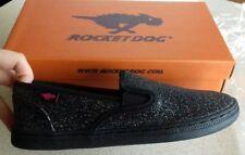 Girls rocket dog skater,pump,plimsolls black sparkle brand new 11 - 5 BRAND NEW