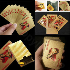 Waterproof Plastic Playing Cards Poker Deck Magic Card Pvc Foil Golden Set