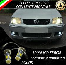 COPPIA LAMPADE FENDINEBBIA H3 LED CREE COB CANBUS PER VW POLO 6N1 6N2 6000K