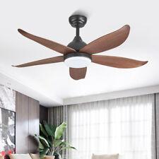 "46"" Chandelier Ceiling Fan w/ 3 Colors LED Light Remote Reversible 5 ABS Blades"