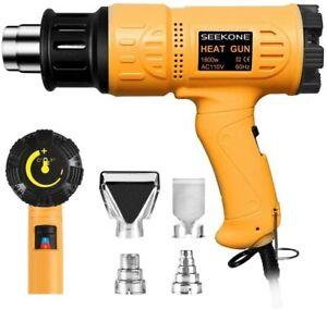 SEEKONE Heat Gun 1800W Heavy Duty Hot Air Gun Kit Variable Temperature Control