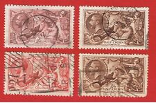 """Great Britain #174-179-180-222 Vf used """"Britannia Rule the Waves"""""""