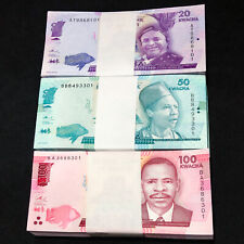 100 SETS X MALAWI 20 50 100 Kwacha SET 3 PCS 2016 P-63 64 65 UNC Uncirculated
