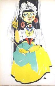 PIERRE GAUCHAT- SERPINA.-MARIONNETTES-ORIG.LITHOGRAPH-MOURLOT 1949-VELIN