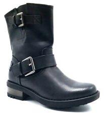 Steve Madden Joesie Woman's Motorcycle Boots Leather Black US 7