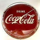 "Vintage Drink Coke Coca Cola Round Button Thermometer 12"" Works 495A USA +Bonus"
