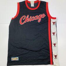 Vintage NBA Chicago Bulls Black Red Majestic Hardwood Classics Jersey Size Large