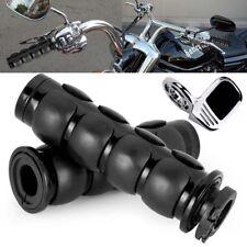 "Black  Hand Grips 1"" Chrome For Kawasaki VN Vulcan Classic Nomad Drifter 1500"