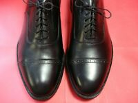 NWOB! Men's Shoes JOHNSTON & MURPHY ARISTOCRAFT Oxford Sz 10.5 Black Leather