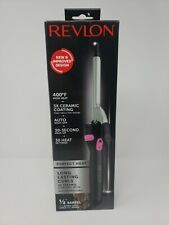 "Revlon Perfect Heat Ceramic Curling Iron for Extra Tight Curls, ½"" Barrel NIB"
