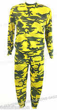 Girl's Kids Co-ord Army Camo Print Loungewear Tracksuit Jogging Set Ages 2-13yrs