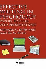 Effective Writing in Psychology : Papers, Posters, and Presentations by...