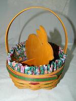 Longaberger Easter Basket,1999 Edition with Protector/Liner/ Wood Divider