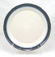 Noritake Stoneware CAPTIVATE 8649 Chop Plate (Round Platter) 12.125 in. Blue Rim