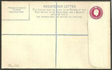 George V 41 / 2D inutilisés enveloppe enregistrés rp38h code Co