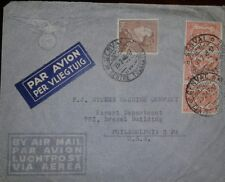 O) 1947 BELGIUM, KING LEOPOLD III SCT 302 10fr -COAT OF ARMS 266 5c, AIRMAIL TO