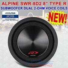 "SINGLE ALPINE 1000W 8"" TYPE-R SERIES DUAL 2 Ohm HIGH PERFORMANCE SUBWOOFER NEW!"
